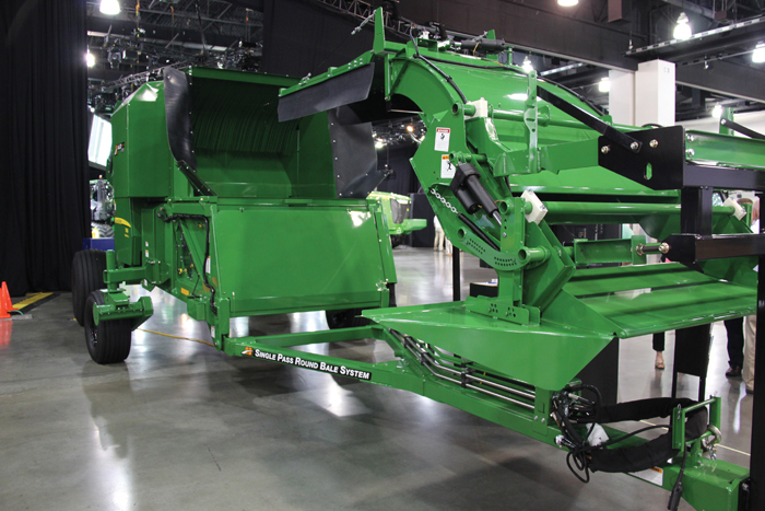 John Deere baler attachment for a combine
