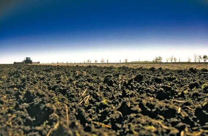 farmed soil