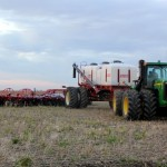 A vertical tillage implement set up to seed could  give  farmers  a  chance  to  get  winter  wheat  into  the  ground  successfully  when  conditions  are  tough.