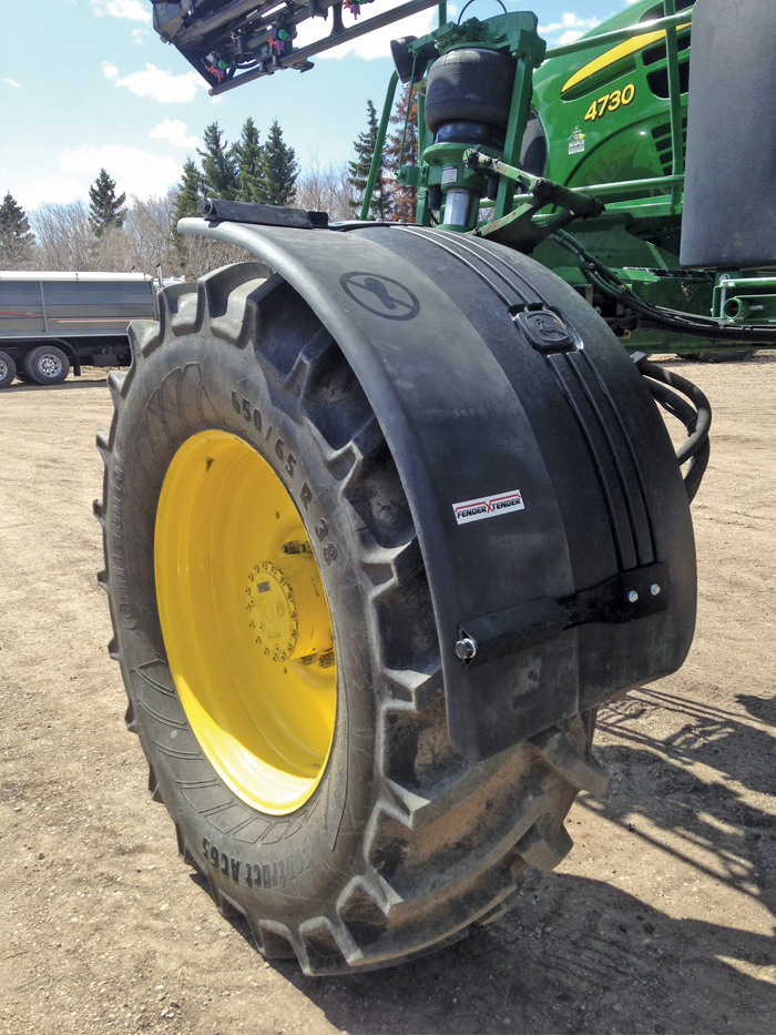 tractor wheel with FenderXTender