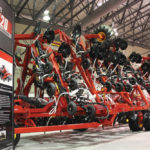 The model 3420 centre-folding TransFold drill design from Bourgault is now available in a smaller 80-foot working width.