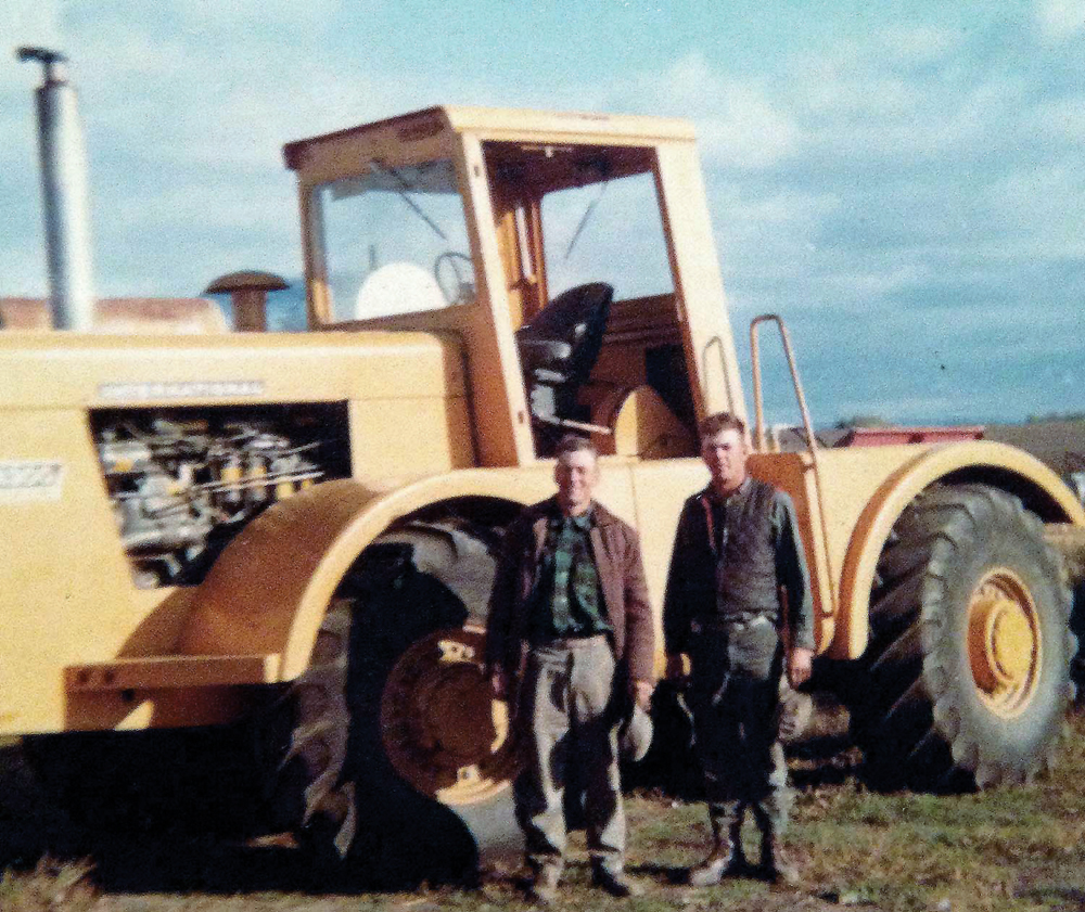Remi (left) and Murray Mosset pose beside their 4300.