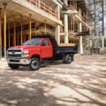GM's medium-duty trucks hoods will have GM's recent diesel engine introduction, the 350 horsepower Duramax 6.6 litre, under the hood.