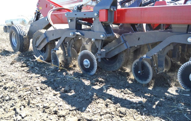 AGCO-Amity unveils new air drill shank design.