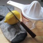 How much attention do you pay to your heels? Shown are simple tools to easily prepare a lemon for a special purpose after squeezing out the juice.