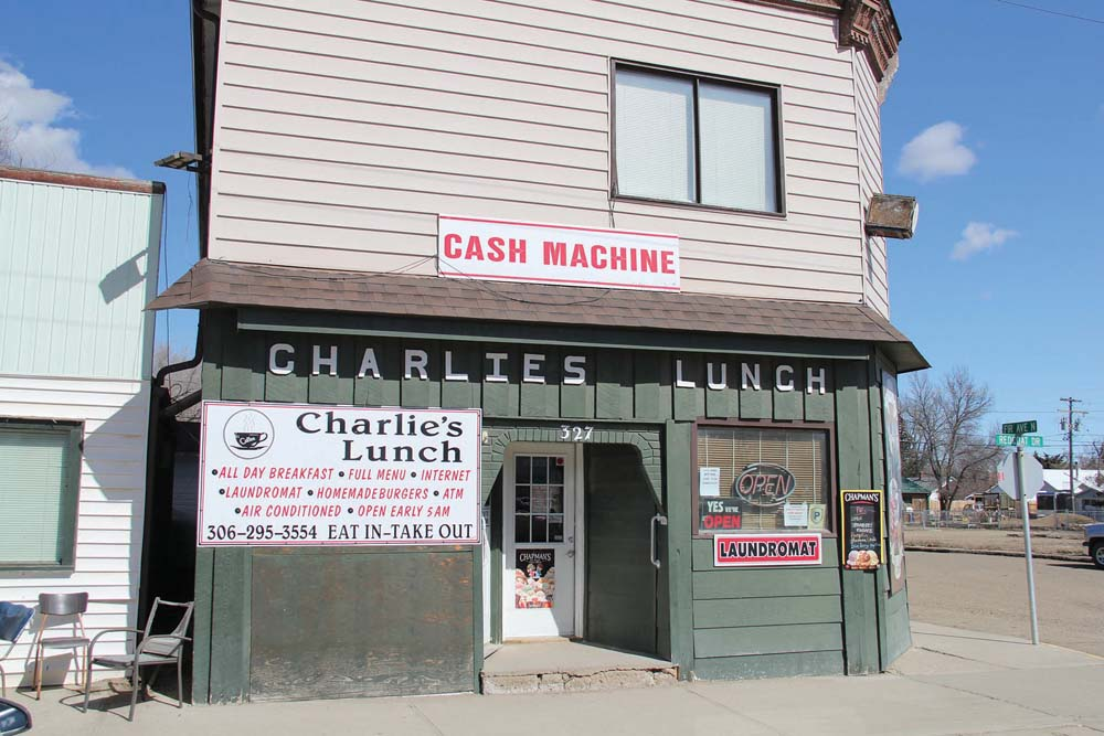 Charlie's Lunch in Eastend, Sask., serves some of the crispest french fries I can recall and a tasty beef burger supplied by a local rancher.