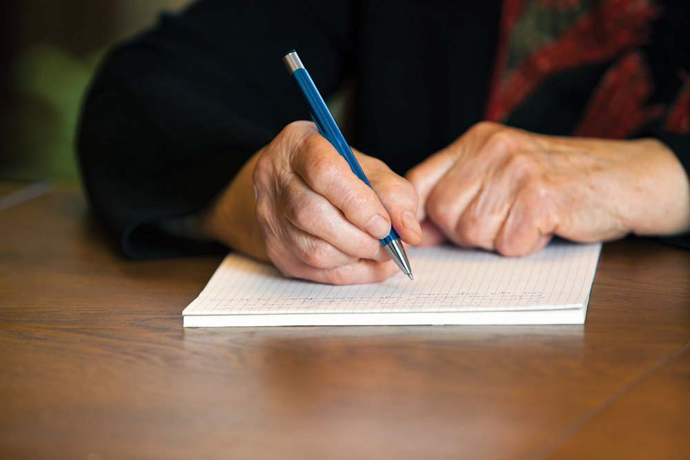 The perfect gift may be a heartfelt letter to a family member expressing your appreciation.