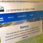 USDA's main home page on Jan. 11, 2019. (GFM Staff photo)
