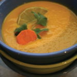 Carrot and Coconut Cream Soup with Anise and Ginger (see recipe at bottom).