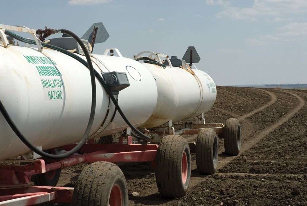 Anhydrous ammonia, or NH3, is one of the most commonly used fertilizers. It's low cost, highly effective and contains one of the most concentrated forms of nitrogen, with levels at 82 per cent. However, it can also be highly hazardous.