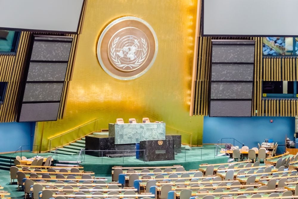 The United Nations' General Assembly Hall in Manhattan. (BWZenith/iStock/Getty Images)
