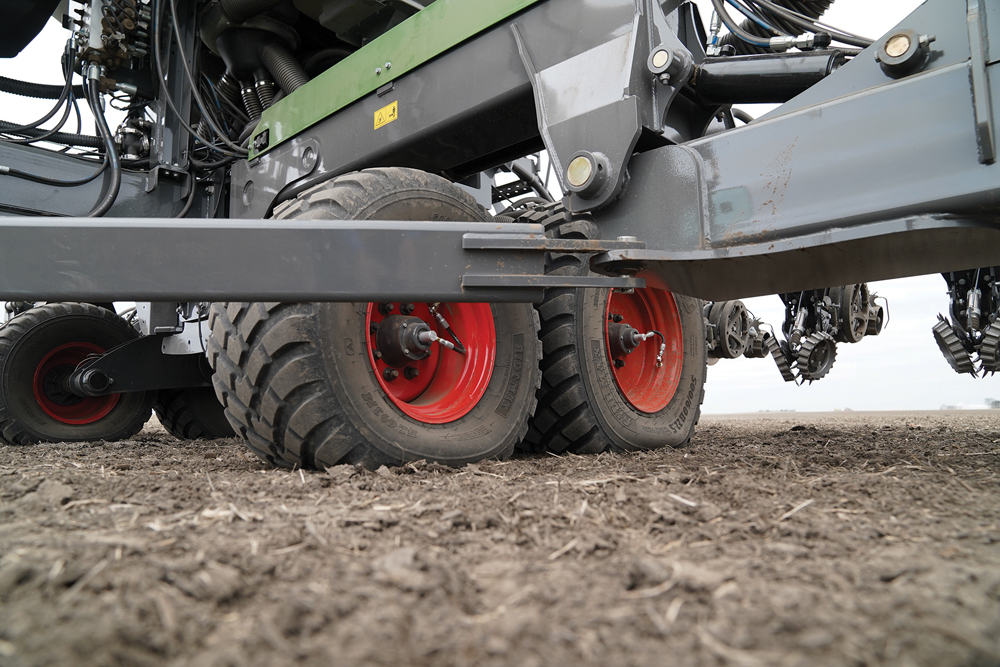 AGCO is testing the effect of tire inflation pressures on crop growth with its new Fendt Momentum planter.