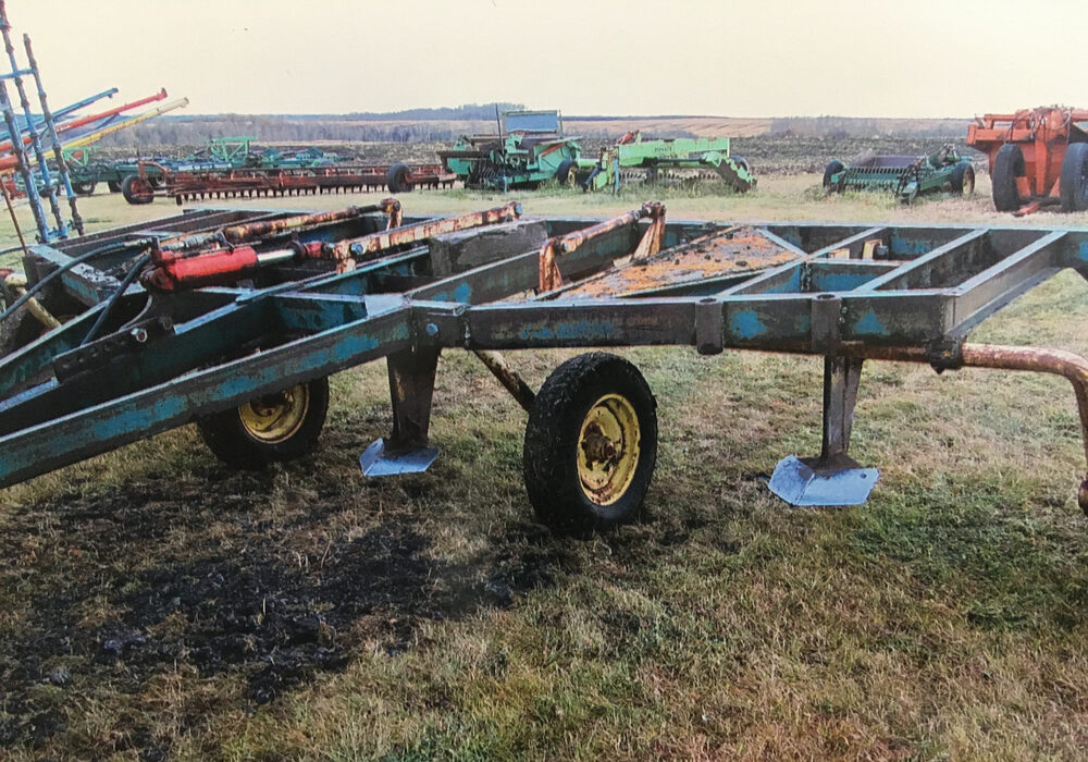Robert Snider modified an original Rome Plow implement to create a subsoiler capable of 20-inch deep soil penetration.