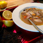 Chicken, Lemon and Wild Rice Soup.
