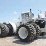 The world's largest ag tractor, the Big Bud 747, built in 1977, had its original tires replaced with a full set of Goodyear/Titan LSW1400/30R46 tires last summer.