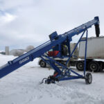 The U-Trough auger is new from Brandt and is designed primarily for loading trucks from hopper-bottom bins.