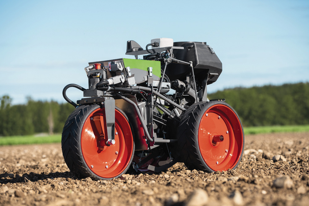 The redesigned Fendt Xaver seeding robot could soon see commercialization.