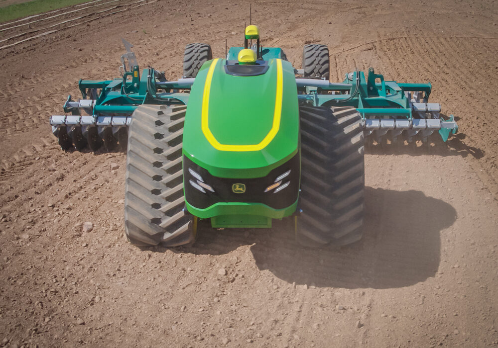 John Deere showed some of its newest technology at the Consumer Electronics Show this year tackling the topic of the inevitable advancement of autonomy in agriculture.