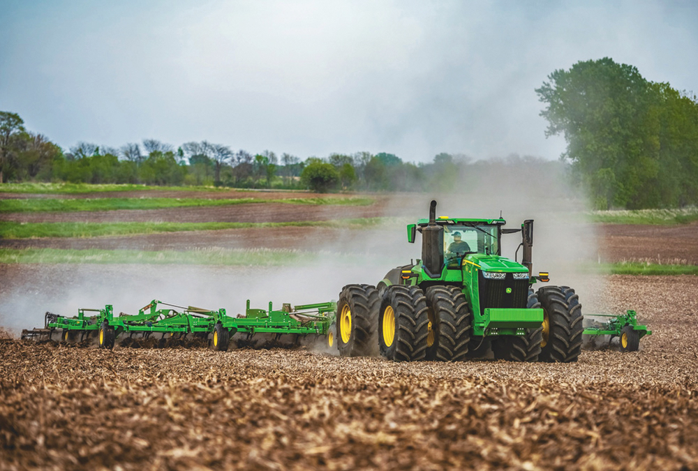 John Deere has updated the three models in its 9R tractor line.