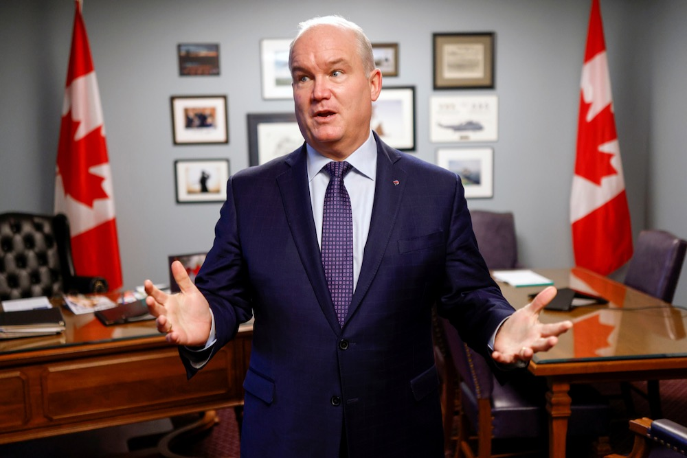 Conservative Party leader Erin O'Toole speaks at Parliament Hill in Ottawa on Nov. 19, 2020. (File photo: Reuters/Blair Gable)