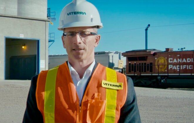 Kyle Jeworski, Viterra's CEO for North America, speaks in a December 2020 promotional video announcing the company's worldwide rebranding. (Viterra video screengrab via YouTube)