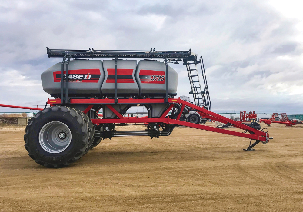 Case IH has added to its 5 series line of air carts, pushing tank capacity to 760 bushels.