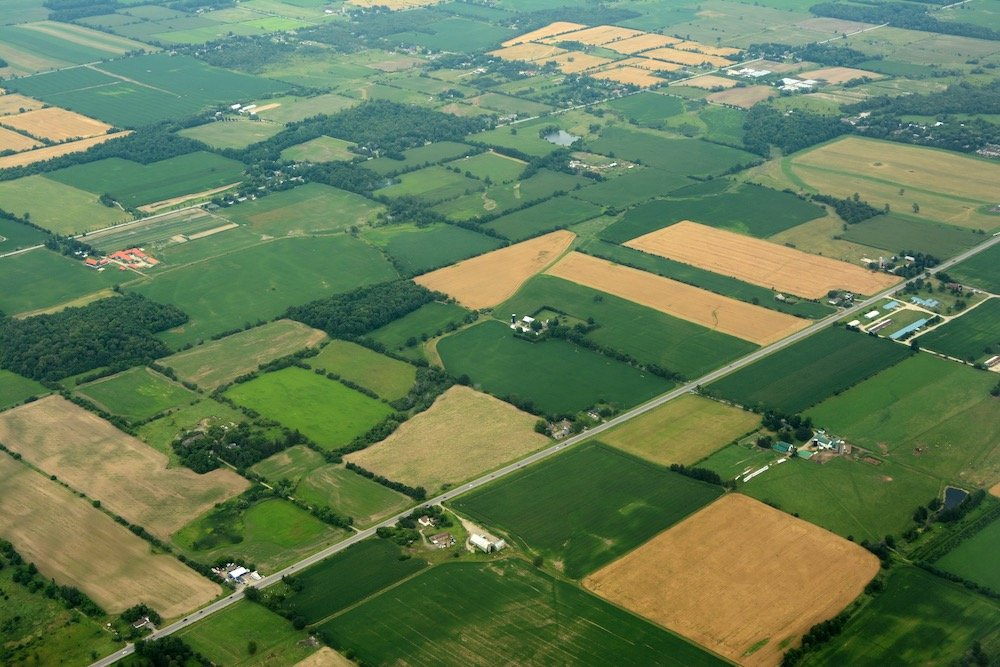File photo of Ontario cropland from the air. (IMNATURE/iStock/Getty Images)