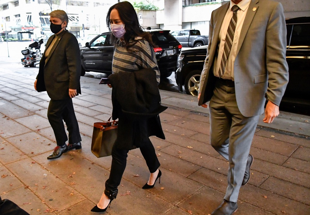 Huawei chief financial officer Meng Wanzhou arrives at court in Vancouver on Nov. 23, 2020. (File photo: Reuters/Jennifer Gauthier)