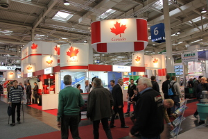 Many Canadian companies put in an appearance at the show as well, forming part of a couple of Canadian pavilions.