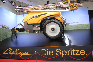 Many displays, like this one with a sprayer mounted on the wall are pretty unique